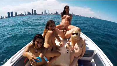 Amateur group fuck fest on a small boat on the Mediterranean Seas