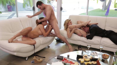 Alexa Grace & Melissa Moore swap partners in a foursome