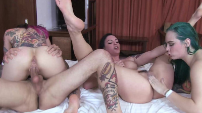 Bi wife swapping anal foursome orgy with Joanna Angel & friends