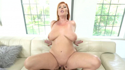 Experienced redhead granny Tammy Jean gets her ass opened up