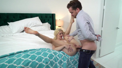 Bad nanny Anastasia Knight takes fat cock in her tight fuckholes