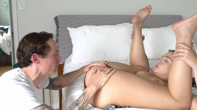 Blair Williams receives a huge creampie and it dripping out of her pussy