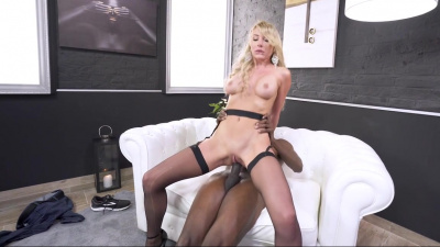 Slavic blonde Marilyn Crystal takes bbc in her hungry asshole