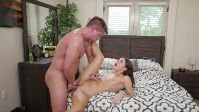 Babysitter Zoe Bloom kinky fuck in the master bedroom