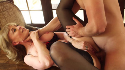 Divorced Nina Hartley finds a young lover