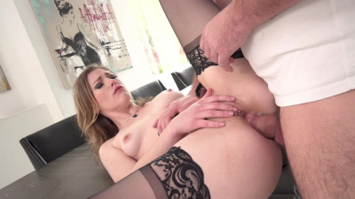 Ella Nova stuffed in her backdoor with huge cock