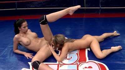 Aleska Diamond and Larissa Dee winner will enjoy her victim's pussy