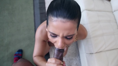 Latina Rose Monroe tries bbc anal but it does not fit in her small arse