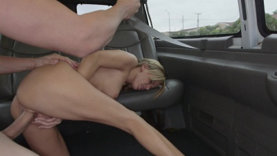 Blonde Pristile Edge gets pounded hard and raw in the backseat of a van