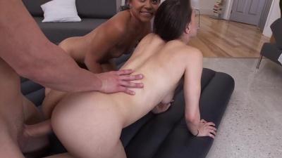 Alexis Breeze sucks and sucks dick in her first boy girl porn scene