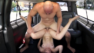 Kimber Lee getting facial in a raw hardcore car fucking